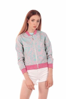 Bomber estampada en colores pastel ,COCKTAIL JACKET MINUETO