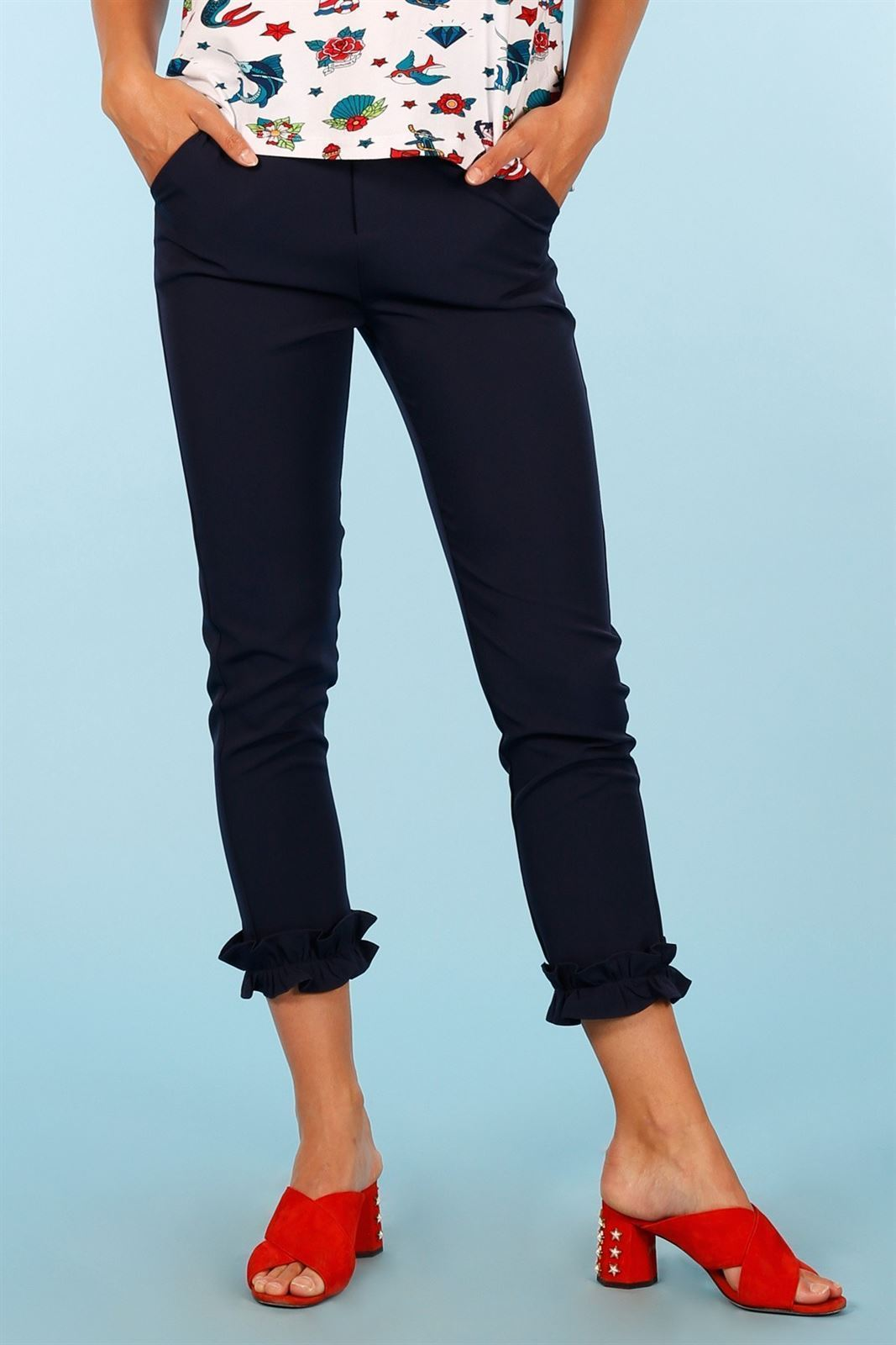 NAVY TROUSERS MINUETO - Imagen 3